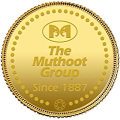 Muthoot Gold Bullion Corporation 24k  999.9  Yellow Gold Coin   1g