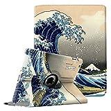 Fintie Hülle für iPad 2 / iPad 3/ iPad 4-360 Grad rotierende Ständer Schutzhülle Cover Case mit Auto Schlaf/Wach Funktion für Apple iPad 2,iPad 3 & iPad 4th Generation, Die Wellen