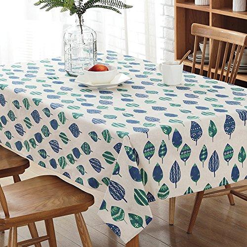 S&shan Tischdecke, Pastorale Baumwolle Leinen Tisch Couchtisch Tuch Staubschutz Tuch, geometrischer...