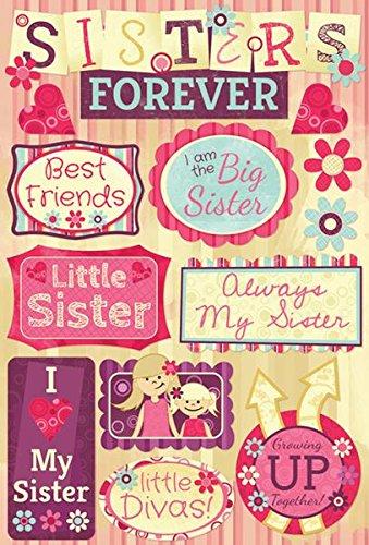 Unbekannt Karen Foster Design Säure- und Ligninfrei Scrapbooking Aufkleber Tabelle, C ist für The Cure Sisters Forever
