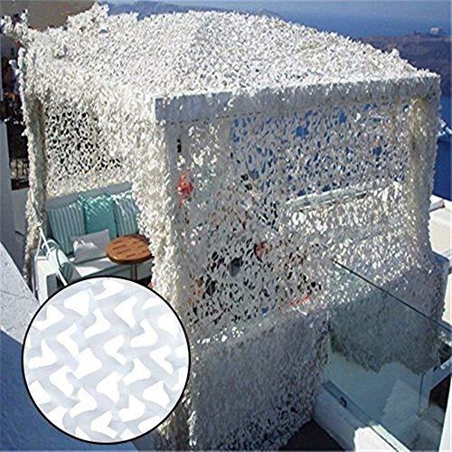 Tarnnetz Garten Sonnenschutznetz, Weißes Tarn Markisen-Sonnenschutznetz Sonnenschutznetz 4x5m Balkon Terrassenschutz Sichtschutz Pflanzenschutz Autoabdeckung Gartendekoration 3m 4m 5m 6m 7m 8m 10m