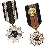 IPOTCH 2 Piezas De Medalla De Tela Medallón Insignia Hombres Mujeres Cospaly Broche Uniforme Pin