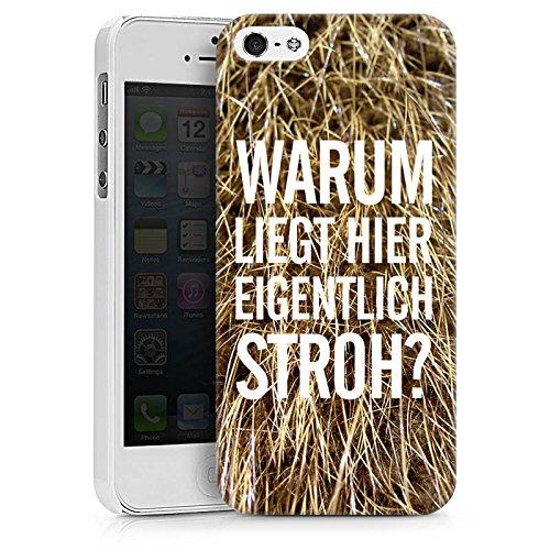 Apple iPhone X Silikon Hülle Case Schutzhülle Stroh Lustig Humor Hard Case weiß