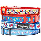 Blueberry Pet Spring Scent Inspired Floral Garden Blue Magic Basic Dog Collar, Neck 30cm-40cm, Small, Collars for Dogs, Matching Lead Available Separately
