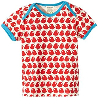 Loud + Proud Unisex - Baby T-Shirts Tierdruck 204, Rot (tomato), 98/104