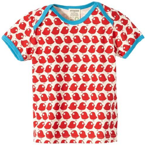 Niedliche Bio-herren-t-shirt (Loud + Proud Unisex - Baby T-Shirts Tierdruck 204, Rot (tomato), 86/92)
