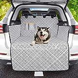OMORC Kofferraumschutz Hund Auto 100% Wasserdicht und Rutschfest,Kofferraumdecke Hund Kofferraummatte Hund mit Seitenschutz, Kation Muster Tuch Universal Auto Kofferraum Hundedecke