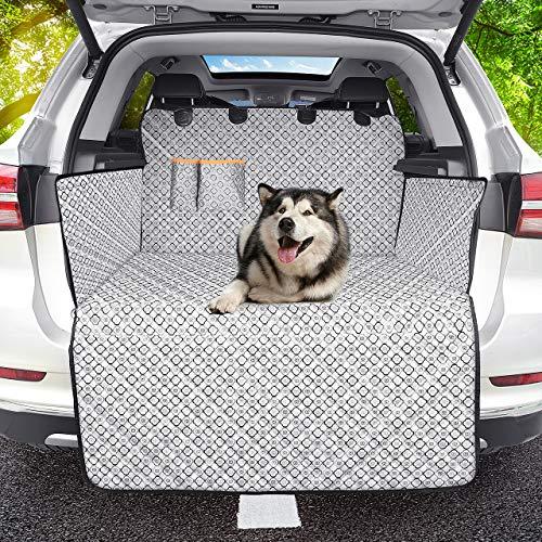 Omorc protezione bagagliaio auto, 100% impermeabile e antiscivolo telo auto per cani protezione bagagliaio auto per cani copertura bagagliaio auto catione tessuto fantasia universale portabagagli