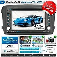 2DIN Auto Radio Creatone V de 336dg para Mercedes Vito W639(2004–2006) con GPS Navegación (Europa), Bluetooth, pantalla táctil, reproductor de DVD y función de USB/SD