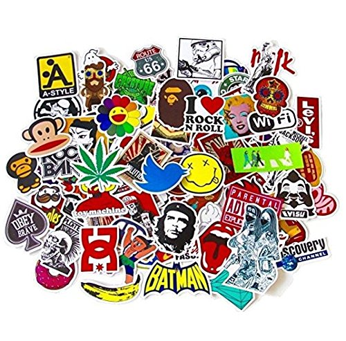 JER Miglior Pacco Adesivi in Vinile per MacBook Laptop Tavola da Snowboard Bagagli iPhone Valigia Car Bike Adesivo Confezione Art Retro Graffiti Decal Stickers Pack