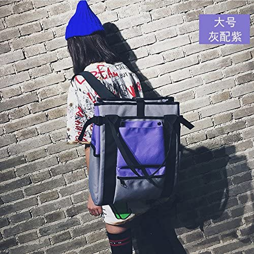 SQBB Schoolbag, female Korean Korean Korean version, high school student laptop bag, backpack, canvas, shoulder bag, female Joker,grigio viola big ww166 B07FP9CMXW Parent | Rifornimento Sufficiente  | Liquidazione  | il prezzo delle concessioni  8f1d6d