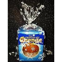 "MHA UK branded 20 Christmas Snowflake 7x10"" cellophane sweet, chocolate festive xmas goody bags with free twist ties"