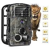 Wildkameras Trail Jagd-Kamera, OCDAY Wildlife Kamera mit 12 MP 1080P Full HD Wildkamera mit bewegungsmelder Zeitraffer 65ft 120 ° Weitwinkel wildkamera fotofalle Infrarot Nachtsicht 42pcs IR LEDs Wasserdicht IP54 2,4