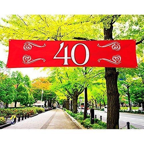 Folat Banner Edler 40. Geburtstag 40 x 180 cm