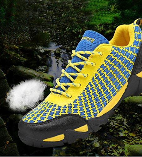 Dayiss Herren Bergschuhe Trekking-&Wanderschuhe Knöchelschuhe Sport- & Outdoor Schuhe Turnschuhe Schnürschuhe luftdurchlässig Blau