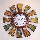 HY-FHLJ Reloj De Pared De Estilo Europeo De Hierro Retro Salón Dormitorio Moderno No-tictac Silent Barrido Decoración Segundos