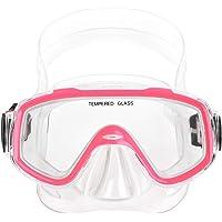JIAHG Kinder Schnorchelbrille Taucherbrille Schwimmbrille Tauchmaske für Mädchen, Jugendliche, Tempered Glas, Kid Mask