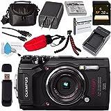 Olympus Tough TG-5 Digital Camera (Black) V104190BU000 + 32GB SDHC Card + LI-50B Lithium Ion Battery + External Rapid Charger + Small Soft Carrying Case + Camera Floating Strap Bundle