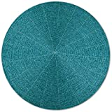 Arsvita 6er Pack Glasperlen Tischset handgefertigt Ø36cm in vielen Farben erhältlich (türkis - Petrol)