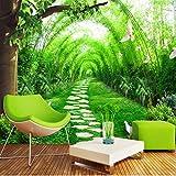 Weaeo Benutzerdefinierte Jede Größe 3D Wandbild Tapete Bambus Wald Road Wand Dekorationen Wohnzimmer Schlafzimmer Tv Hintergrund Foto Wall Paper Rolls-200X140Cm