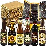 Pack Coffret Box 6 Bières artisanales de France, Belgique et Angleterre - Barbar au miel/Tripel Karmeliet/Hopbuckler IPA/Cuvée des Trolls/Kwak/London Porter