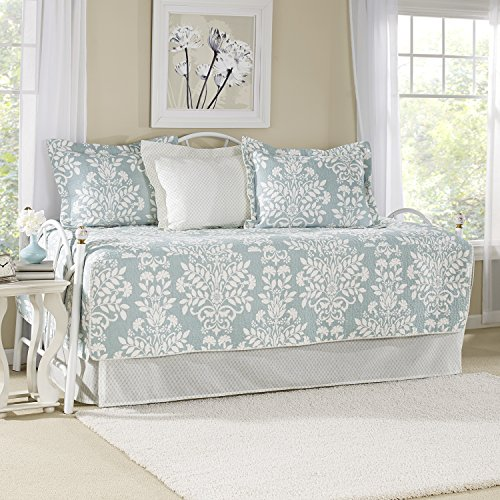 Laura Ashley Heirloom Bettwäsche-Set, gehäkelt, Grau Daybed blau -