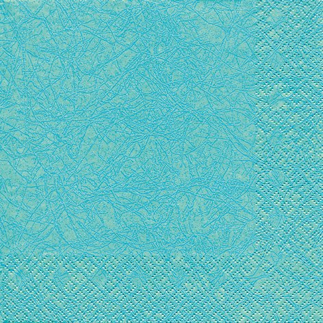 20 Servietten Uni aqua / Modern colours / einfarbig / zeitlos 33x33cm -