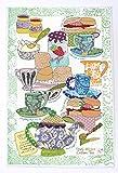 TÈ CREMA POMERIDIANA STROFINACCIO di MOLLYMAC Bella Cucina Home Decor. Grazie a te regalo, Matrimonio, Compleanno, salvietta Natalizia. Panno di Cucina Colorato Canovaccio - Made in United Kingdom - 100% cotone - 71 x 46 mm