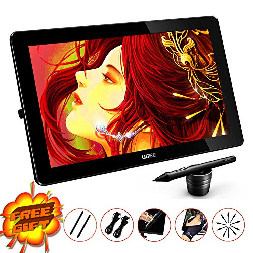 Ugee HK1560 15.6 Inches IPS Screen HD Resolution Graphics Monitor with 2 Rechargeable Pen and 1 Drawing Glove