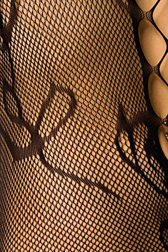 Add Health Damen Bodysuit Einteiliger Nachtwäsche Reizwäsche Metallic Body Teddy GoGo Wäsche Negligé Netz Dessous Reizwäsche Body Unterwäsche 012 Black