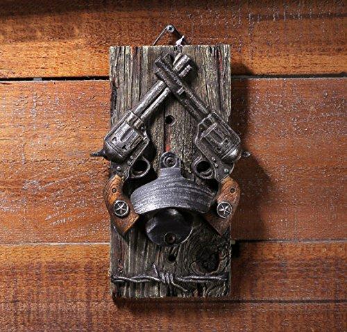 ontiert Bier Flaschenöffner DOUBLE Guns Cowboy Style für Home Bar Garten Dekoration Zubehör (Cowboys Zubehör)