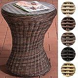 CLP Table d'appoint SANDINO en polyrotin, Table Basse Design, Table Ronde Ø 50 cm,...