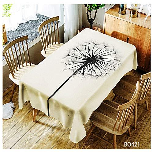 QWEASDZX Tischdecke Polyester Leicht und atmungsaktiv Ölbeständig und wasserdicht Rechteckige Tischdecke Haushalt Tischdecke Geeignet für den Innen- und Außenbereich 140x140cm