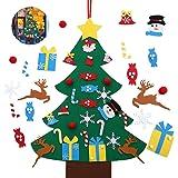 ASANMU Albero di Natale in Feltro per Bambini, DIY Albero Natale Feltro Decorazione Murale per Albero di Natale da 95 cm, Reg