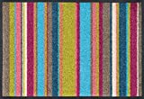 Wash&Dry 079330 Stripes Multi Fußmatte, Acryl, 40 x 60 x 0,7 cm, Bunt