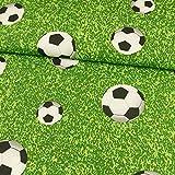 Dekostoff Fußball Canvasstoff - Preis gilt für 0,5 Meter