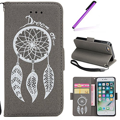 iPhone 6 6S Leder Hülle,iPhone 6 6S Wallet Case,iPhone 6 6S Handytasche Hülle,Leder Handy Tasche Wallet Case Flip Cover Etui für iPhone 6 6S,EMAXELERS iPhone 6 6S Silikon Hülle,iPhone 6 6S Hülle Retro Sparkly Campnaula 4
