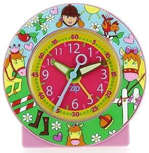 Baby Watch - 064 - Equitation - Réveil Fille - Quartz Pédagogique - Cadran Rose