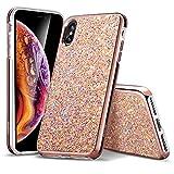 ESR Coque iPhone XS Max Rose, Coque Brillante Diamant Etoile Paillette Strass Bling...