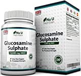 Glucosamine Sulphate 1,500 mg 2KCl, 365 Tablets (1 Year Supply) | High Strength | Made in the UK by Nu U Nutrition by Nu U Nutrition