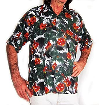 3674564e4 Double Duck Loud Hawaiian Men's Shirt Guitars Musicians Summer Holiday Stag  Night Party New: Amazon.co.uk: Clothing
