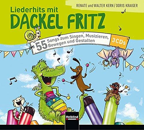 Liederhits mit Dackel Fritz - 3 Audio-CDs: 55 Songs zum Singen, Musizieren, Bewegen und Gestalten 55 Audio