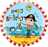 Unbekannt Qualatex 47671rund Rachel Ellen Geburtstagskarte Pirat Folienballon, 18