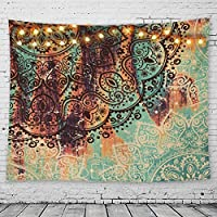 GeeRic Tapiz Pared, Tapiz de Mandala tapices de Pared de algodón Indio, Colcha de pícnic, Manta de Pared, Tapices Decorativos 150 × 230 cm