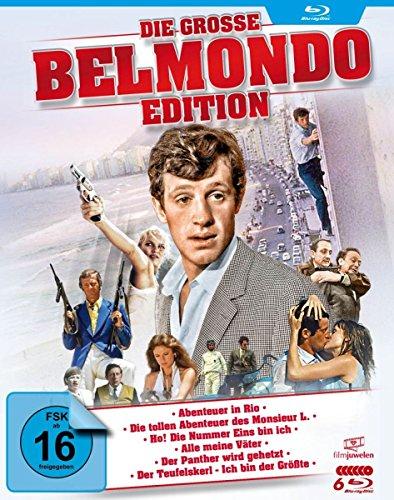 Die große Belmondo-Edition (u.a. Abenteuer in Rio, Monsieur L., Der Teufelskerl, Der Panther wird gehetzt) [Blu-ray]