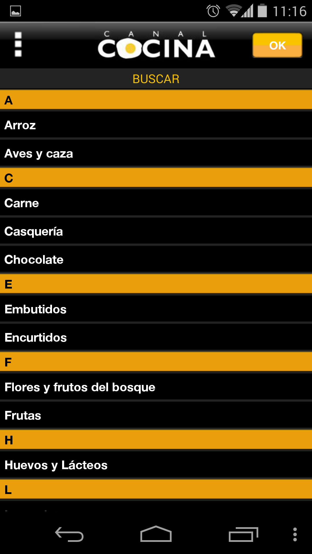 canal cocina appstore for android