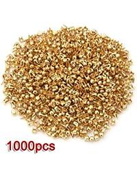 1000X Remaches Tachuelas Cobre Color Dorado para Bolso Ropa 2.5mm
