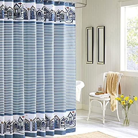 ZJM-cortina del baño City Hut Waterproof Thicker Bathroom Polyester Tissu Rideau De Douche Tissu Rideau Aggravated Plummet ( taille : 150*180cm )