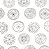 Ausmalstoff Popeline Mandala – Weiss — Meterware ab