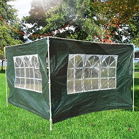 3x2 m Canopy Gazebo Marquee Replacement Side Panel-Green - Gazebo replaceable side walls, which can be easily removed and added with Velcro